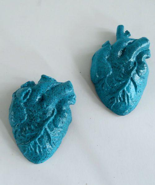 corazón turquesa