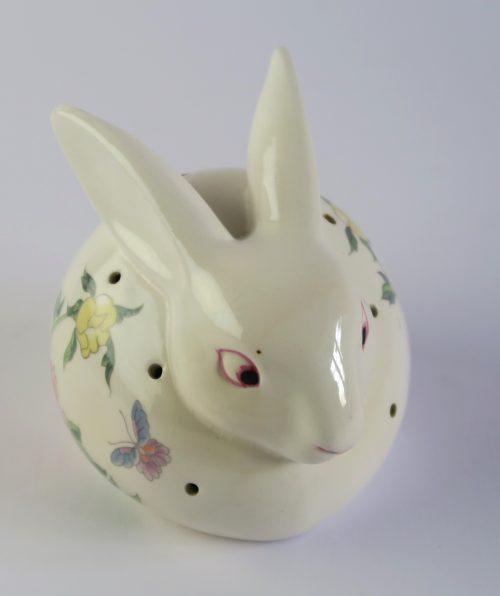 conejo ceramica blanco