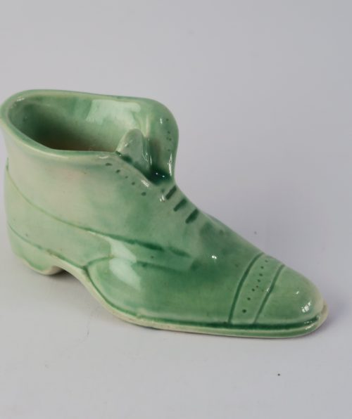 zapatito verde ceramica